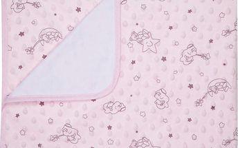 Dětská deka BEVERLY růžová MINKY 80x90 cm Mybesthome