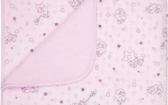Dětská deka GISELA růžová MINKY 80x90 cm Mybesthome