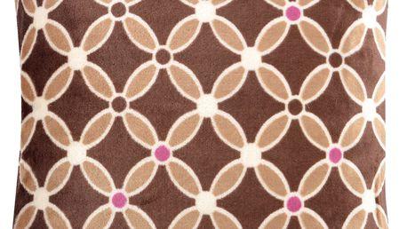 Polštář HAMILTON Essex 40x40cm, hnědá, mikrovlákno geometrický vzor Varianta: Povlak na polštář, 40x40 cm