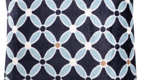 Polštář HAMILTON Essex 40x40cm, černá, mikrovlákno geometrický vzor Varianta: Povlak na polštář, 40x40 cm
