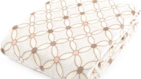 Deka z mikrovlákna HAMILTON 150x200 cm smetanová geometrický vzor Essex