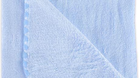 Dětská deka do kočárku JENNY modrá 80x90 cm Mybesthome