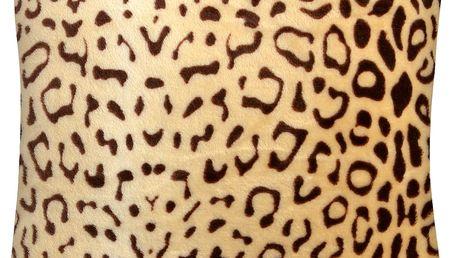 Polštář SAVANNAH Essex 40x40cm, béžová, mikrovlákno zvířecí motiv Varianta: Povlak na polštář, 40x40 cm