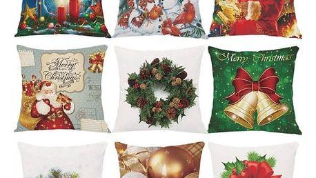 Povlak na polštář s vánoční tématikou
