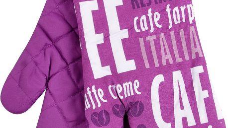 Kuchyňské rukavice chňapky CAFE 18x30 cm fialová Essex