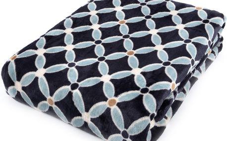 Deka z mikrovlákna HAMILTON 150x200 cm černá geometrický vzor Essex