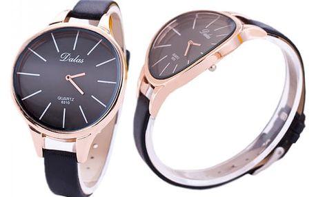 Stylové dámské hodinky s úzkým páskem a výrazným ciferníkem - 4 barvy