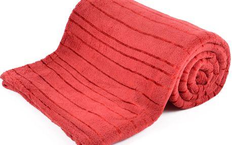 Deka z mikrovlákna ALAN červená 150x200 cm Essex