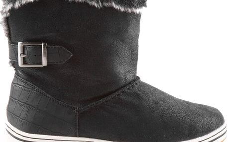 Tamaris - Dámské zateplené kotníkové boty s kožichem 1-26409-25 EUR 39 (Garance nejnižší ceny + doprava zdarma)