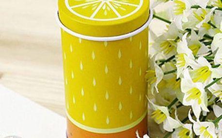 Plechový box na čaj s motivem ovoce - citrón - dodání do 2 dnů