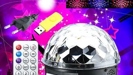 LED svítící diskokoule s dálkovým ovládáním