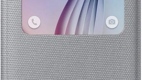 Samsung pouzdro S View EF-CG920B pro Galaxy S6 (G920), stříbrná - EF-CG920BSEGWW