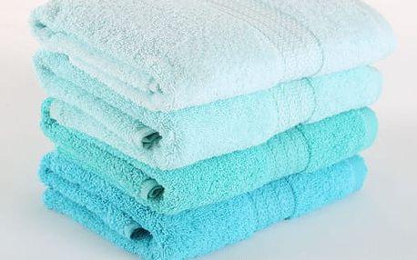 Sada 4 tyrkysových ručníků Rainbow, 50x90 cm