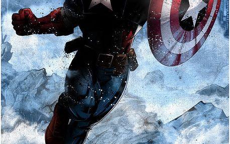 Nástěnná cedule Marvel Dark Edition - Captain America