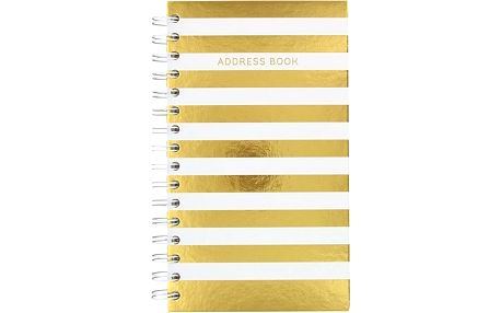 Adresář Go Stationery Wide Stripe Cream