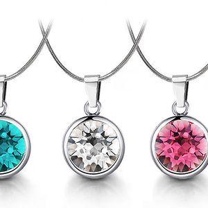 Ocelový náhrdelník s krystaly Swarovski