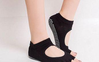 Dámské fitness ponožky s volnými prsty