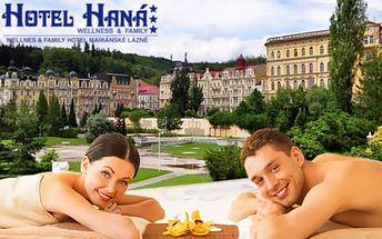 Pobyt v Hotelu Haná*** v Mariánských Lázních pro dva s procedurami a polopenzí