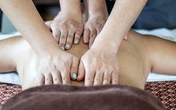 60minutová čtyřruční masáž celého těla