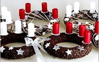 Ozdobte svůj stůl ručně vytvářeným adventním věncem! Stačí zvolit tu pravou variantu a už jen zapalovat svíčky!