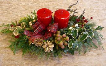 Výzdoba vánočního interiéru
