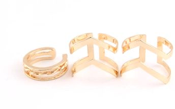 Sada 3 prstenů - 2 barvy