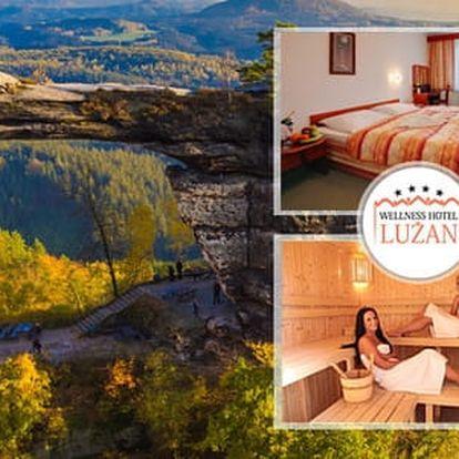 Zimní wellness pobyt pro dva s polopenzí a procedurami v 4* Hotelu Lužan u Českého Švýcarska s dětmi do 5 let zdarma