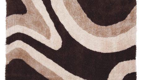 Koberec s vysokým vlasem Abina, hnědý 70/100 cm