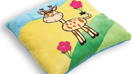 Polštářek pro děti PICCOLO, žirafka, Essex 30x30 cm mikrovlákno