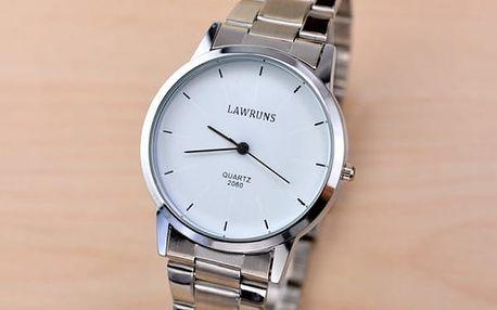 Pánské i dámské hodinky ve stříbrné barvě - mix možností
