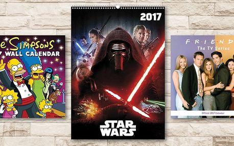 Kalendáře 2017 s filmovými a seriálovými hrdiny