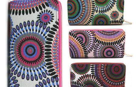 Barevná dámská peněženka Mandala - VÝPRODEJ