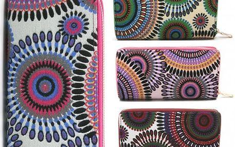 Barevná dámská peněženka Mandala
