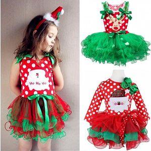Dívčí vánoční šatičky s tutu sukní