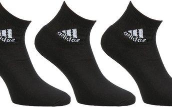Unisex ponožky Adidas Performance 3 páry vel. EUR 43 - 46, UK 9 - 12