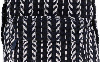 Tmavě modrý prošívaný unisex batoh Mi-Pac Folk Knit