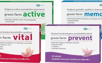 Doplnek stravy: 4 přírodní produkty Green Farm + dárkové balení a poštovné v ceně