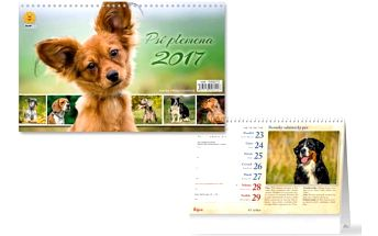 Stolní kalendář 2017 - Psí plemena - dodání do 2 dnů