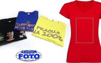 Dámské nebo pánské tričko s vaším vlastním potiskem v bílé nebo jiné barvě