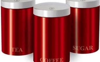Sada dóz 3 ks set Metallic red Passion Collection BERLINGERHAUS BH-1343