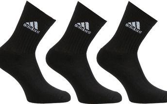 Unisex ponožky Adidas Performance 3 páry vel. EUR 47 - 50, UK 11,5 - 14