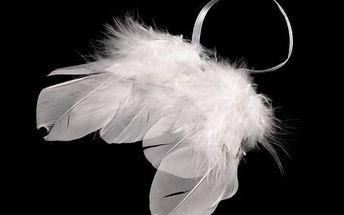 Dekorace andělská křídla 2 ks