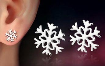 Náušnice v podobě sněhových vloček