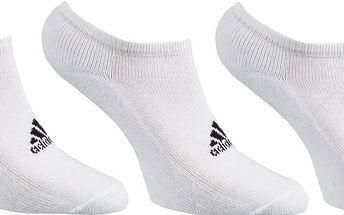 Kotníkové ponožky Adidas 3 páry vel. EUR 43 - 46, UK 8,5 - 11