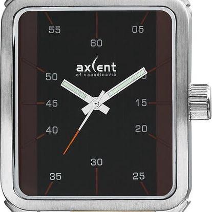 Hnědé pánské hodinky Axcent of Scandinavia Graphic - doprava zdarma!