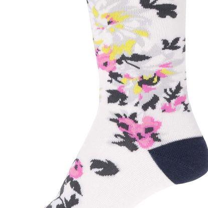 Krémové dámské květované ponožky Tom Joule Brill