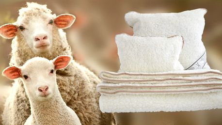 Ustelte si s přikrývkami a polštáři z ovčí vlny