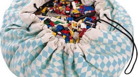 Hrací podložka a pytel na hračky v jednom Play & Go Diamond Blue - doprava zdarma!
