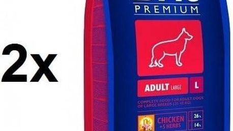 Granule Brit Premium Dog Adult L 2 x 15 + 3 kg ZDARMA + Doprava zdarma