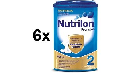 Kojenecké mléko Nutrilon 2 Pronutra, 800g x 6ks + Doprava zdarma